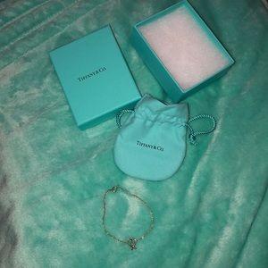 Tiffany co heart silver bracelet